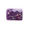 Resin Sew-on Dichroic Style 10pcs 15x21mm Rectangle Purple